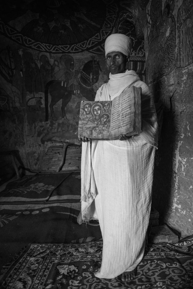 Priest in Abuna Yemata Guh church, Tigray