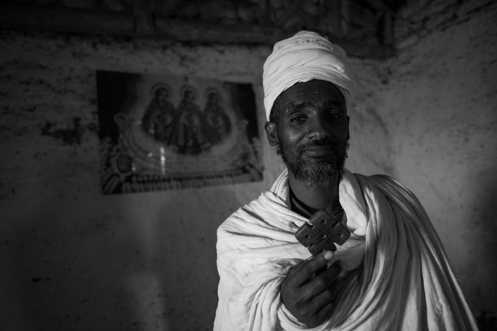 Priest in Debre Tsion Abraham church, Tigray
