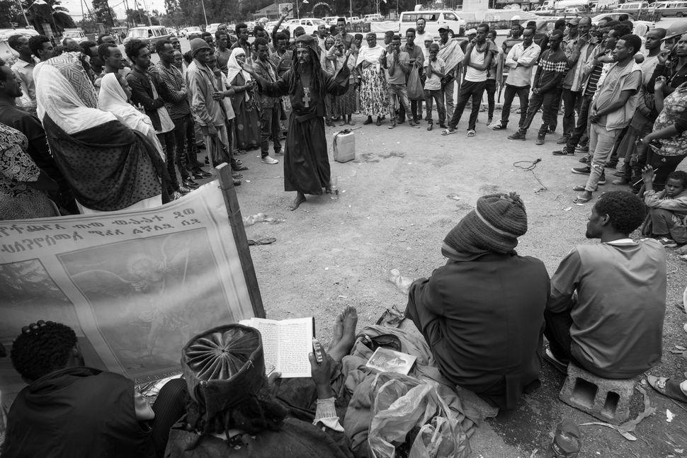 Street preacher, Addis Abeba