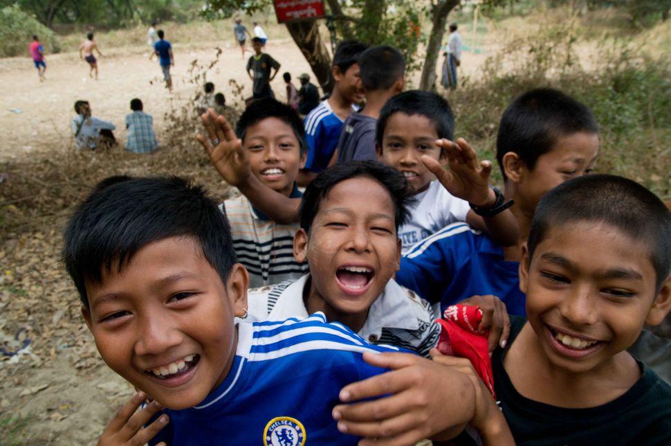 Chelsea fans in Dalah