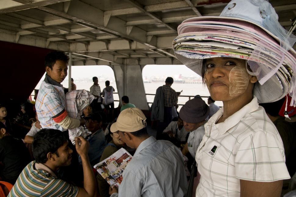 Hat vendor on the Dalah Ferry