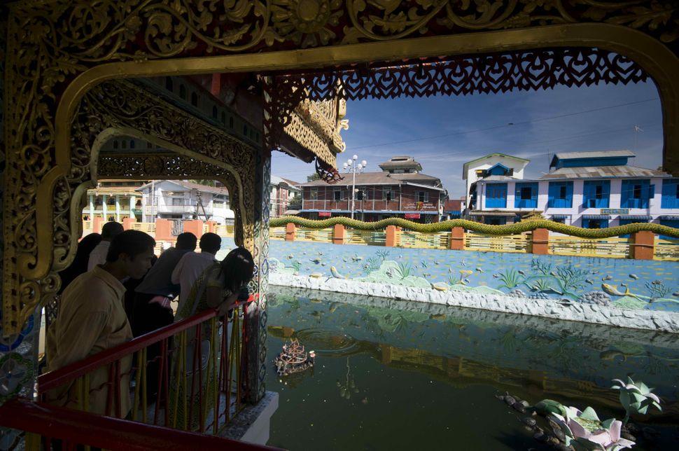 Inside Botahtaung Pagoda
