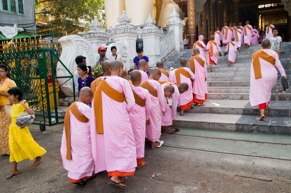 Monks inside Shwedagon Pagoda 5