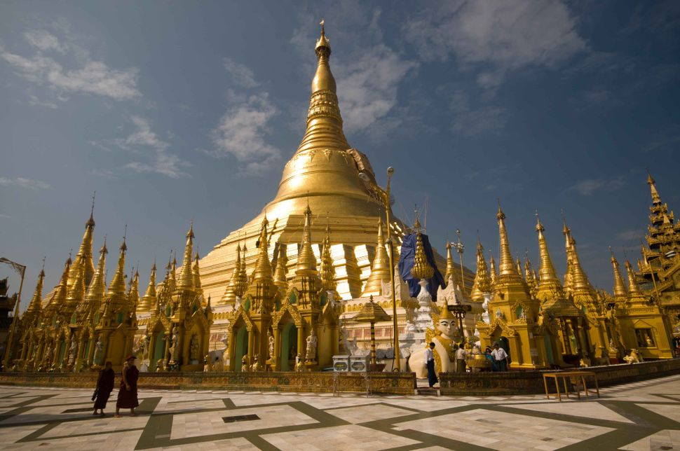 Shwedagon Pagoda shining in the sun